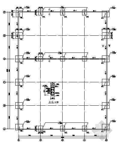 某钢结构库房结构图纸
