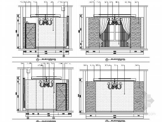 [临沂]高档欧式梦幻奢华会所设计施工图立面图