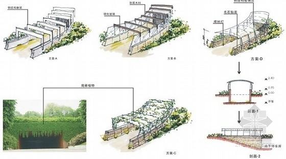 [山东]滨水小区环境景观设计方案-地下车库入口设计意向图