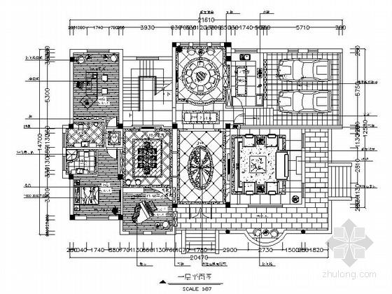 [昆明]欧式精装3层别墅室内设计施工图