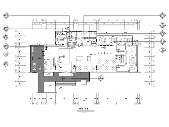 [四川]现代风格餐饮空间装修设计施工图