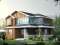 独立小型别墅全套CAD施工图+施工效果图