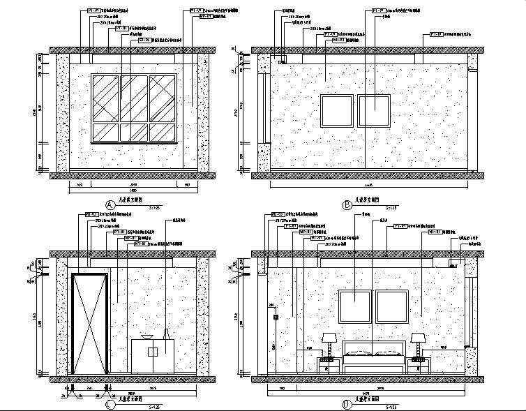 [山东]泰安中齐国山墅中式样板间设计施工图(附效果图)