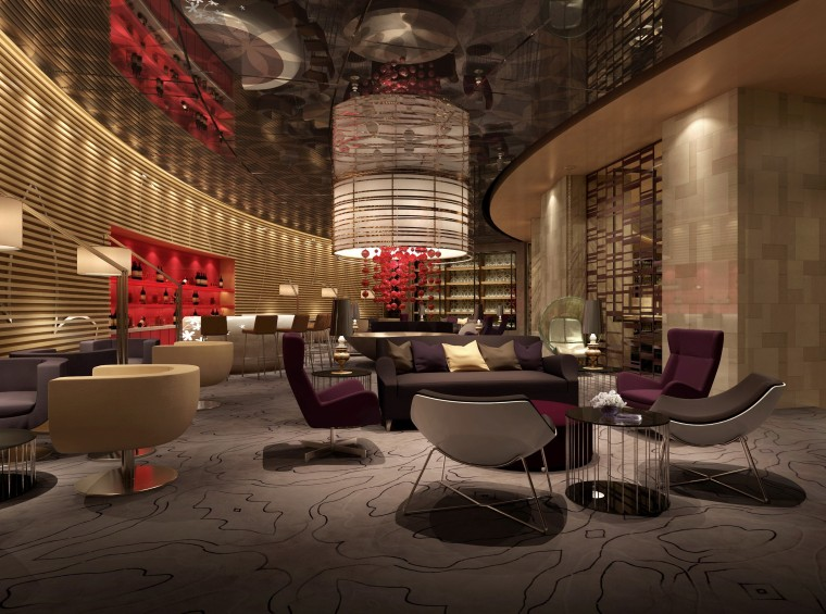 [常州]新中式风格紫薇会所室内概念设计方案