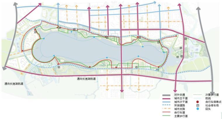 钱资湖景观概念规划设计方案文本-交通分析