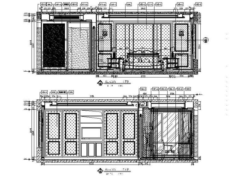 [长沙]欧式低调奢华四居室设计施工图(含效果图)_4