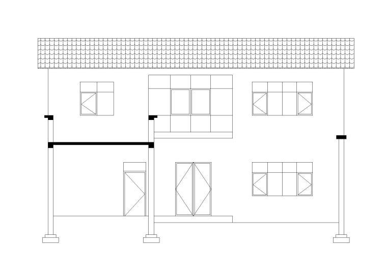 农村自用农家小院平立剖面图CAD