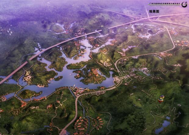 过账天鹿湖地区发展策划与城市设计项目-01效果图