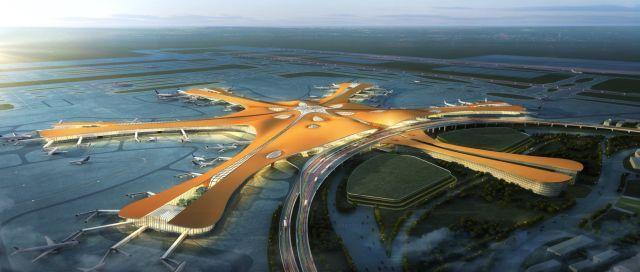 科幻堪比外星人基地——全球最大机场,北京新机场