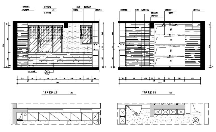 [广东]现代风格办公空间设计施工图(附效果图)