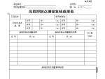高程控制点测量复核成果表