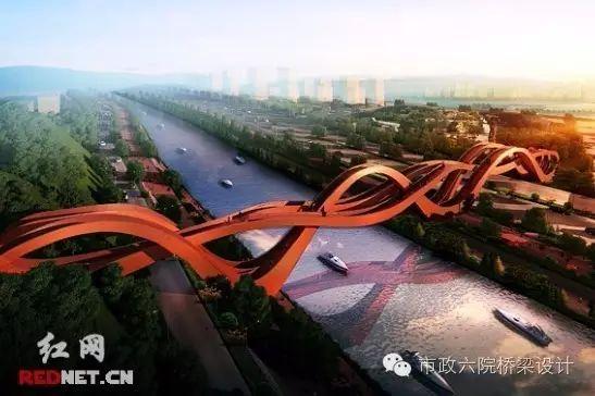 """长沙梅溪湖""""中国结""""步行桥_2"""