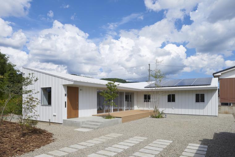 日本栋单层的住宅