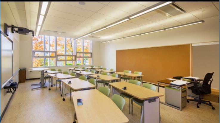 美国纽约某中学室内设计实景图
