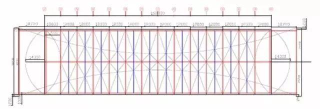 某大跨度拱形钢结构施工工艺