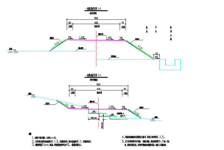 主干道道路工程施工图纸(共21张)-一般路基设计图