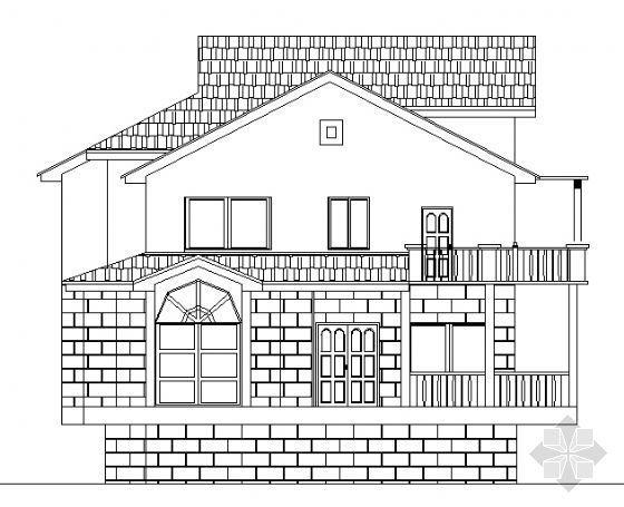 某二层小型别墅建筑方案图