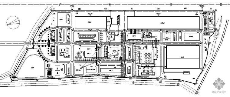 某厂区安防系统平面图