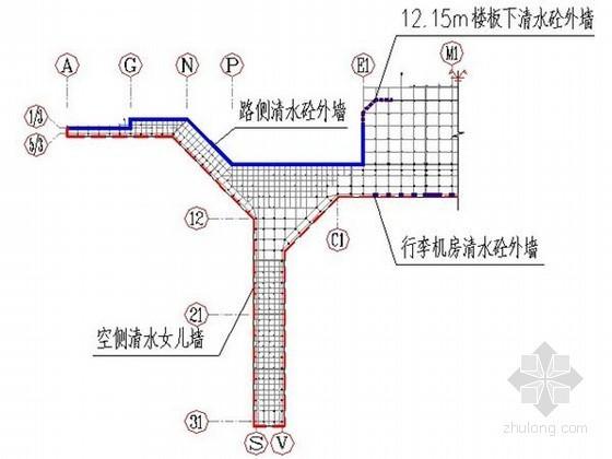 [上海]框架结构航站楼清水混凝土施工方案