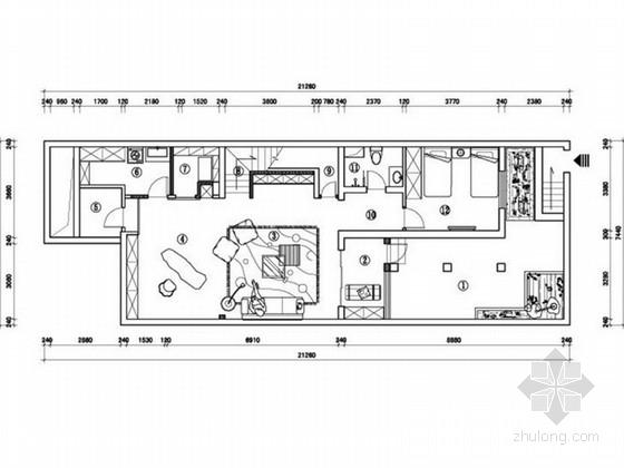 [北京]现代简约风格二层别墅室内装修设计方案