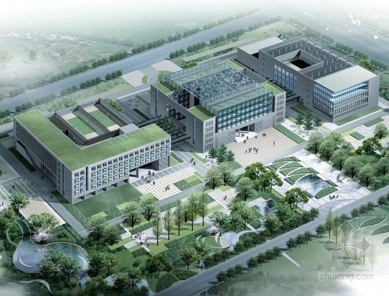 [上海]某5层企业办公楼建筑方案文本