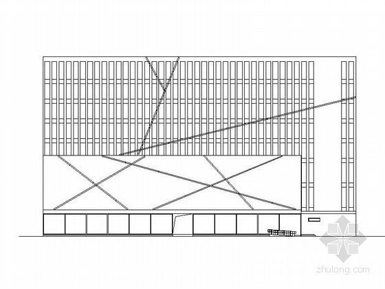 某国产汽车品牌广场八层商业楼建筑方案图(含效果图)