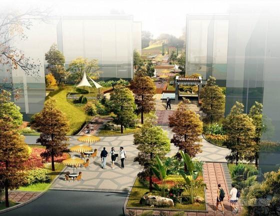 [吉林]滨江居住区景观设计效果图