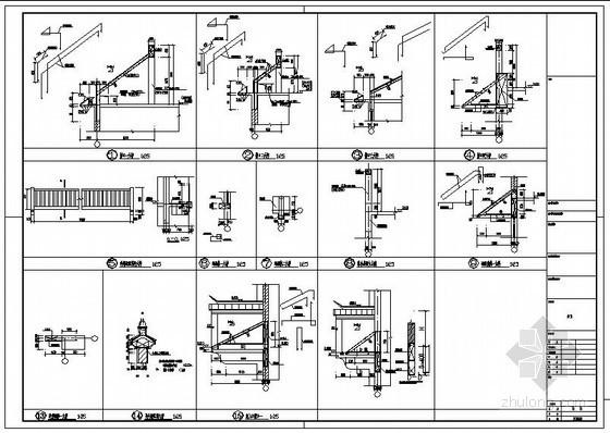 某厂房屋顶檐口节点构造详图