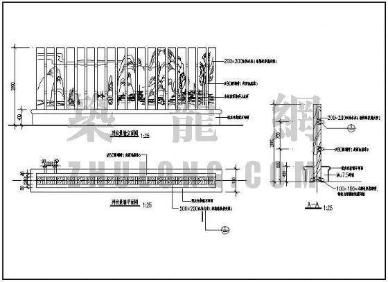 列柱景墙详图-4