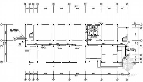 淄博某印刷车间及宿舍空调平面图