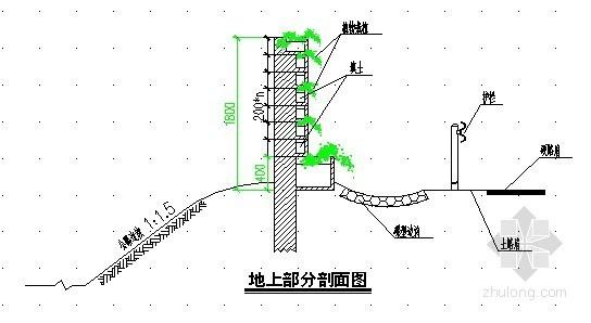 [广东]公路花坛式声障屏设计图