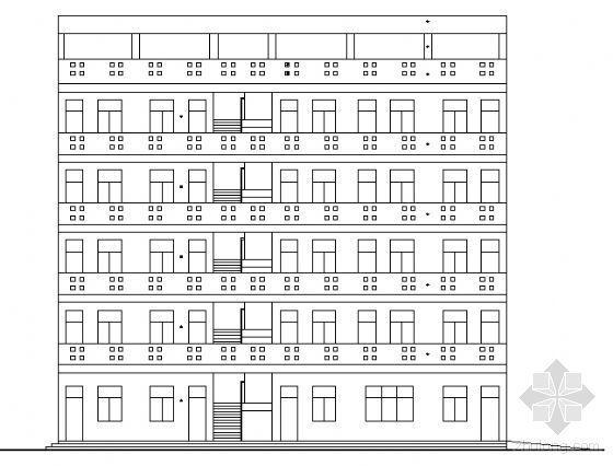 某小学区五层宿舍楼建筑方案图