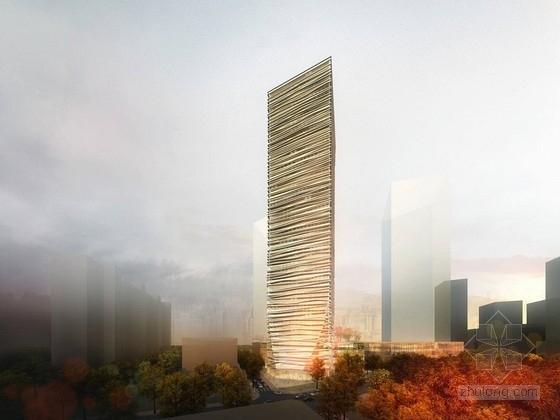 55层钢管混凝土斜交网格外框+伸臂+混凝土核心筒体系办公大厦(259.5米,318张图)