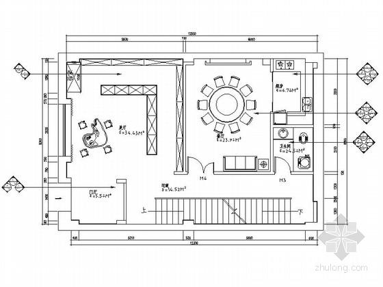 [北京]成熟社区现代风格会所室内装修施工图(含效果)