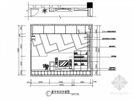 [原创]低调雅致西餐厅设计CAD施工图立面图
