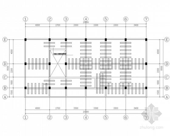 框架食堂加层改造加固结构施工图