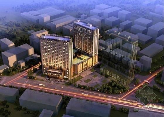 [成都]10万平酒店商业办公楼财富中心综合体结构竣工图(含建筑图)