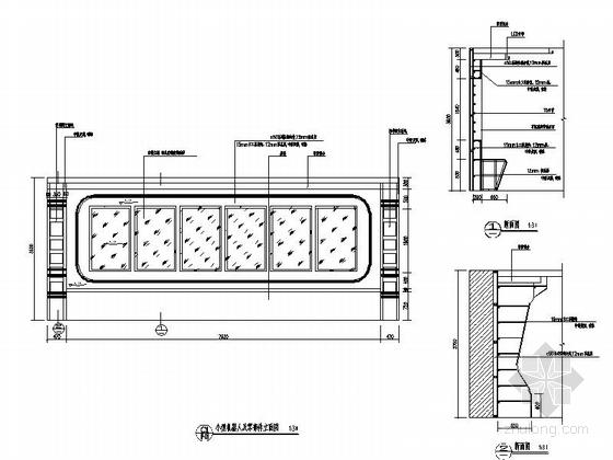 [重庆]高新智能科技功能规划产业园展示厅装修施工图(含效果)小型机器人及零部件立面图