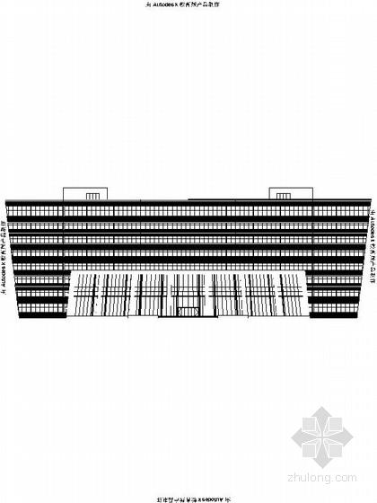 [江苏]8层现代风格办公楼设计施工图(物流园 造型独特)