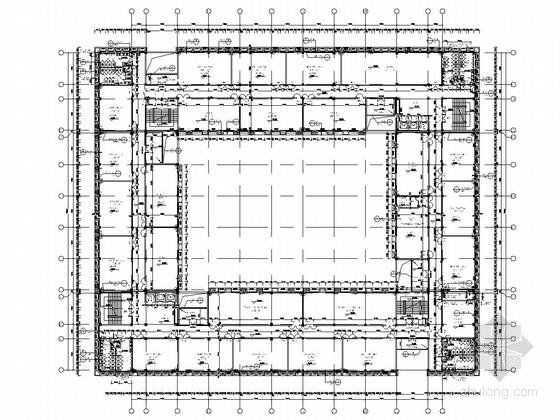 [师范大学]南北区六层框架结构实训中心结构施工图(含建筑图)