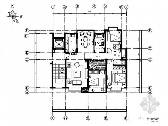 [江苏]现代简洁又时尚别墅家装设计施工图