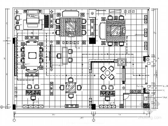 [北京]中式风格古典家具展厅CAD装修图(含效果)
