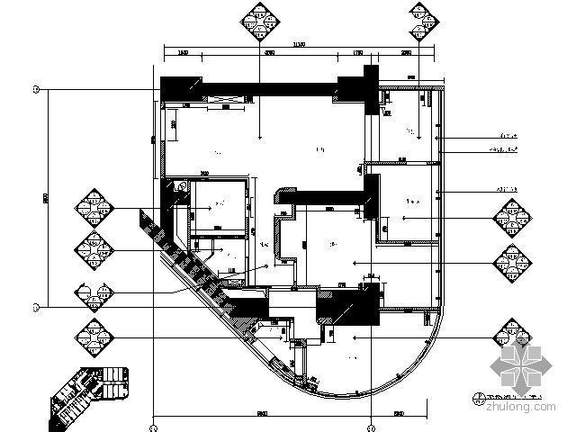 [江苏]四居样板房装修竣工图