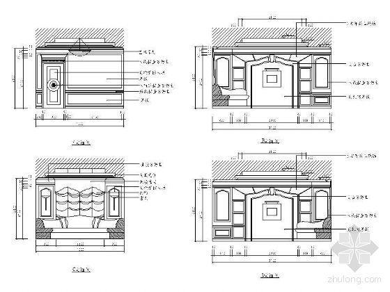 西式包房立面图