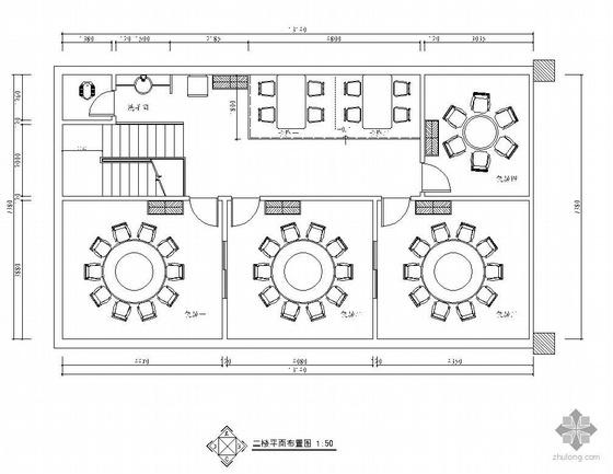 某二层餐馆设计装修图