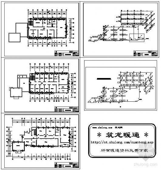 三层办公楼采暖设计计算实例全套