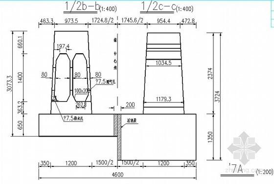 [湖南]特大桥悬索桥锚碇布置及构造CAD节点详图