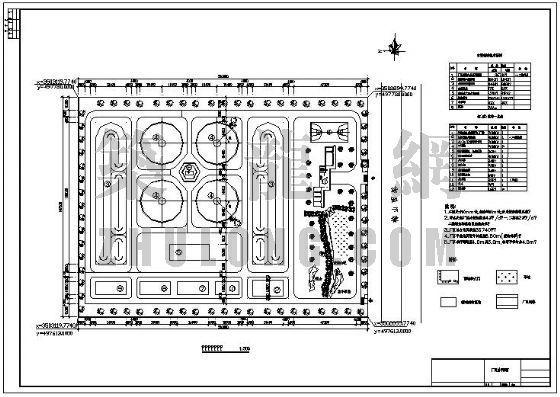 某污水处理厂管线平面布置图