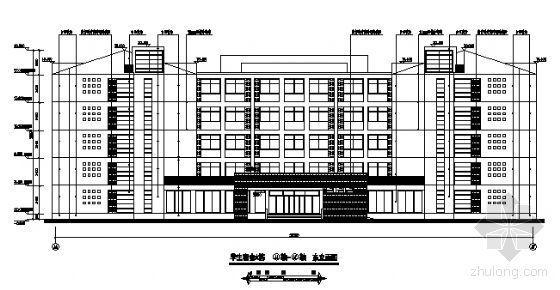 河南某高校五~六层宿舍楼建筑初设图