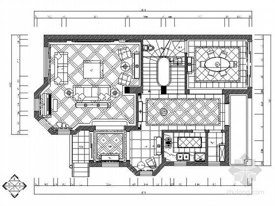 欧式古典三层别墅室内装修图